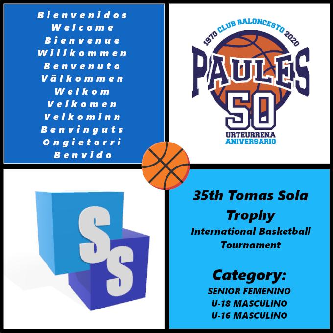 Club Baloncesto Paules en el Trofeo Tomas Sola 2020
